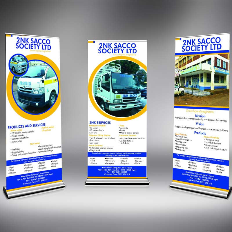A Rollup Banner for 2NK Sacco