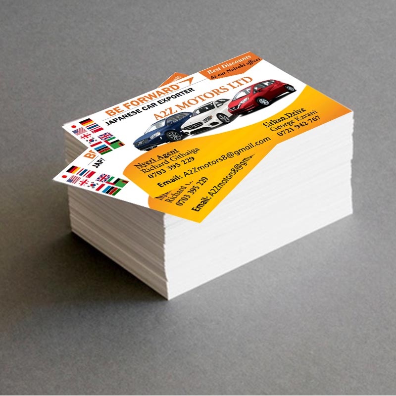 A business card design for Be Forward