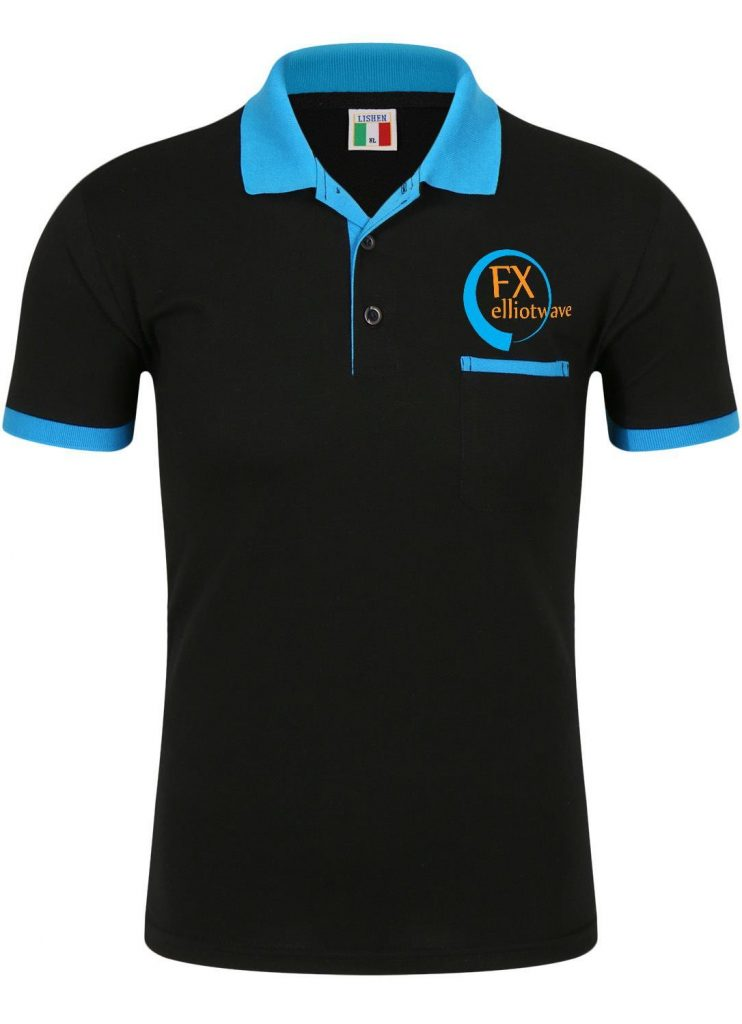 a black contrasting neck and sleeve-endpolo shirt