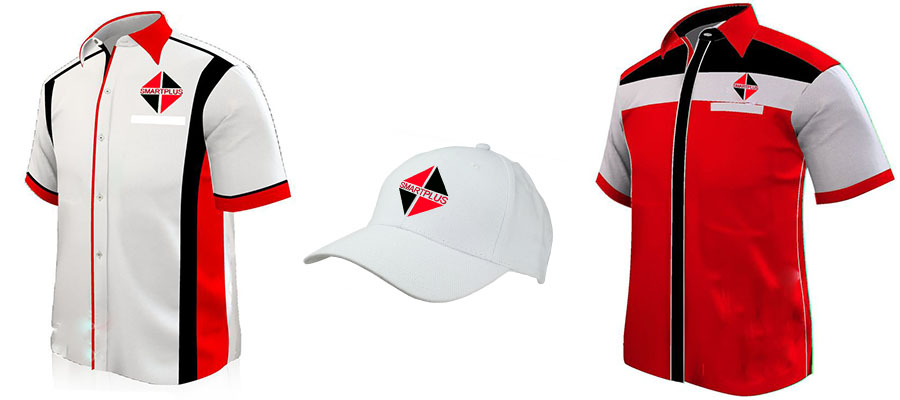 2 branded corporate shirts and a cap